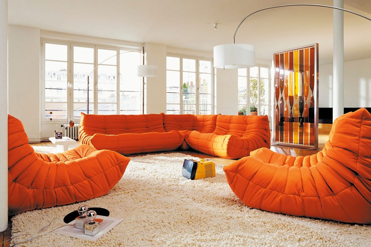 Togo Enviromental 1 In Orange Sofas Furniture Kontaktmag 11