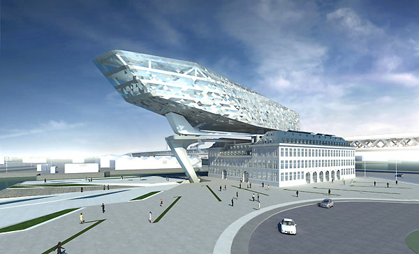 Antwerp Port Authority Building by Zaha Hadid Architects