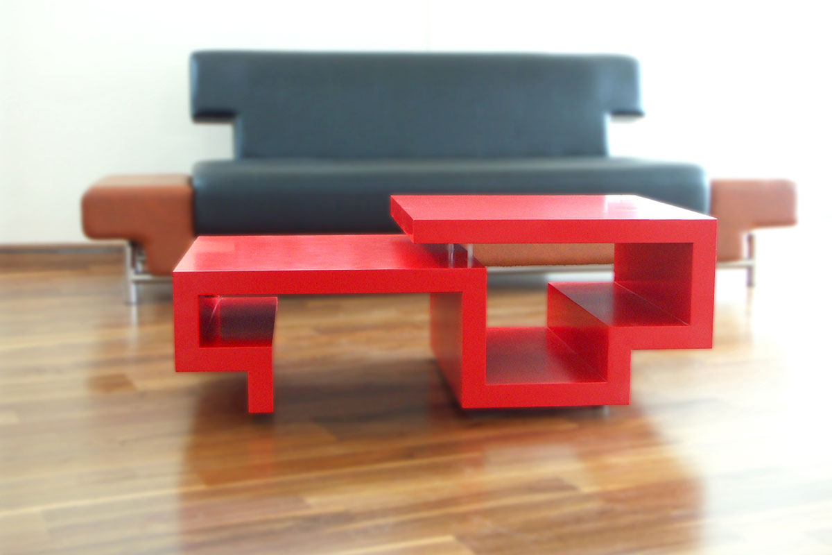 for Red modern coffee table