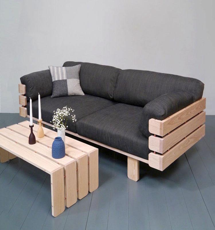 Clean lines characterize the hedges sofa kontaktmag for Stick furniture plans