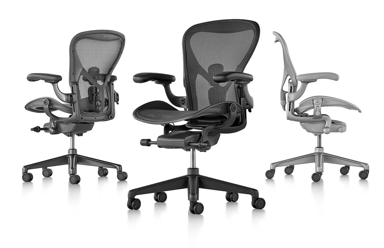 herman miller remasters the iconic aeron chair kontaktmag. Black Bedroom Furniture Sets. Home Design Ideas
