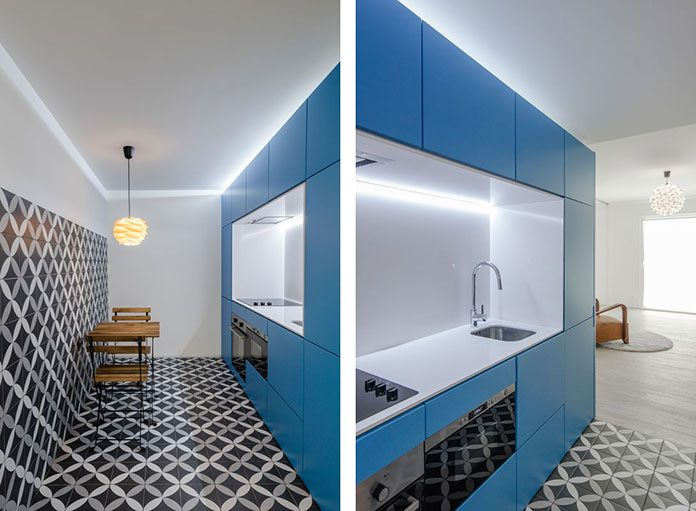 Portugal apartment renovation with a pop of blue kontaktmag for Element apartments reno