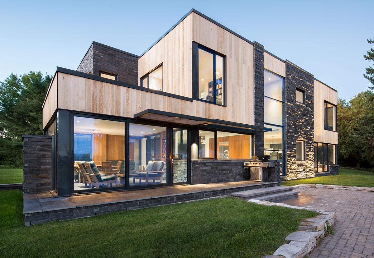 Distinctly Modern Farmhouse In Hemmingford Quebec