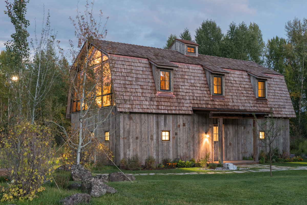 The barn is the perfect example of modern rustic design for Modern rustic architecture