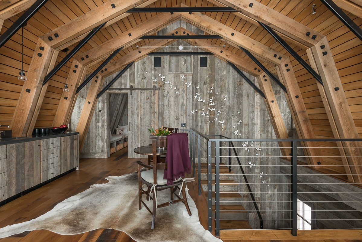 The barn is the perfect example of modern rustic design for Modern barn home interiors
