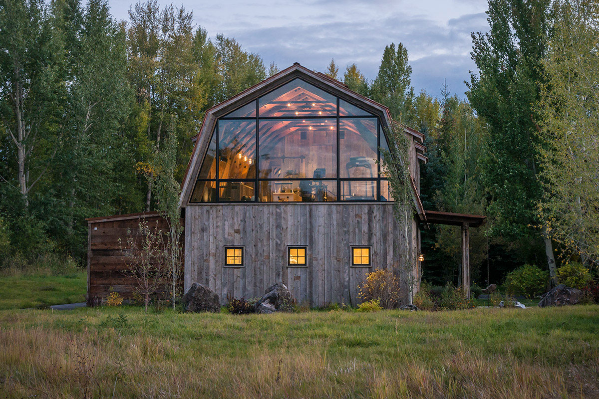 The barn is the perfect example of modern rustic design for Modern barn design